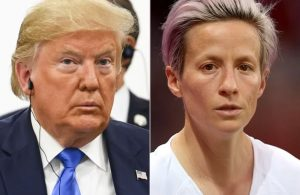 Donald Trump and Megan Rapinoe