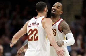 Larry Nance Jr. and J.R. Smith