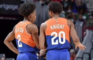 Collin Sexton and Brandon Knight Cavs