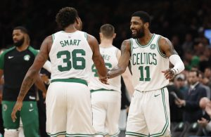 Marcus Smart and Kyrie Irving