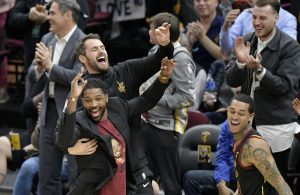 Kevin Love and Tristan Thompson