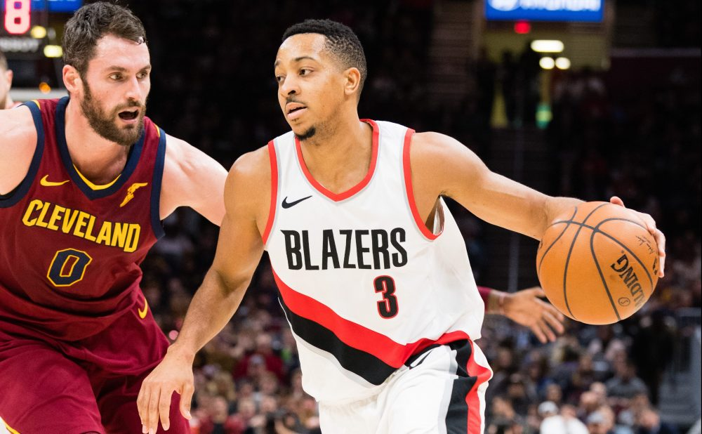 Kevin Love and C.J. McCollum