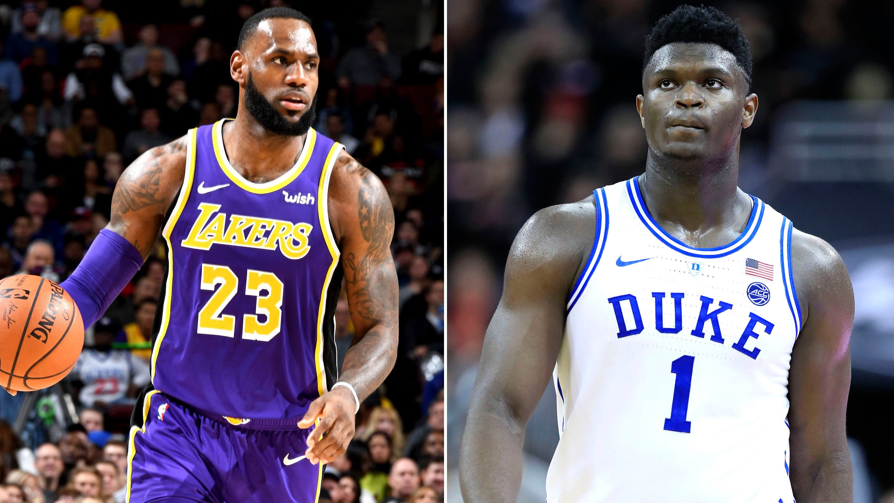 LeBron James and Zion Williamson