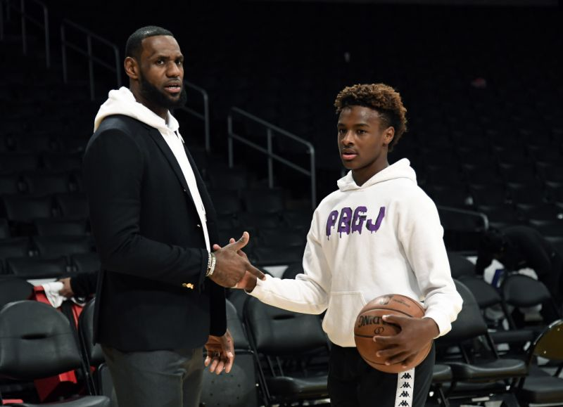 LeBron James and LeBron James Jr.