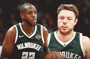 Khris Middleton and Matthew Dellavedova