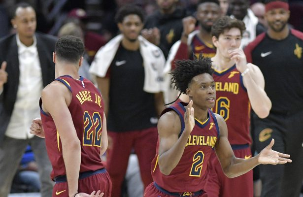 Collin Sexton, Larry Nance Jr., and Cedi Osman