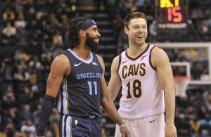 Matthew Dellavedova and Mike Conley