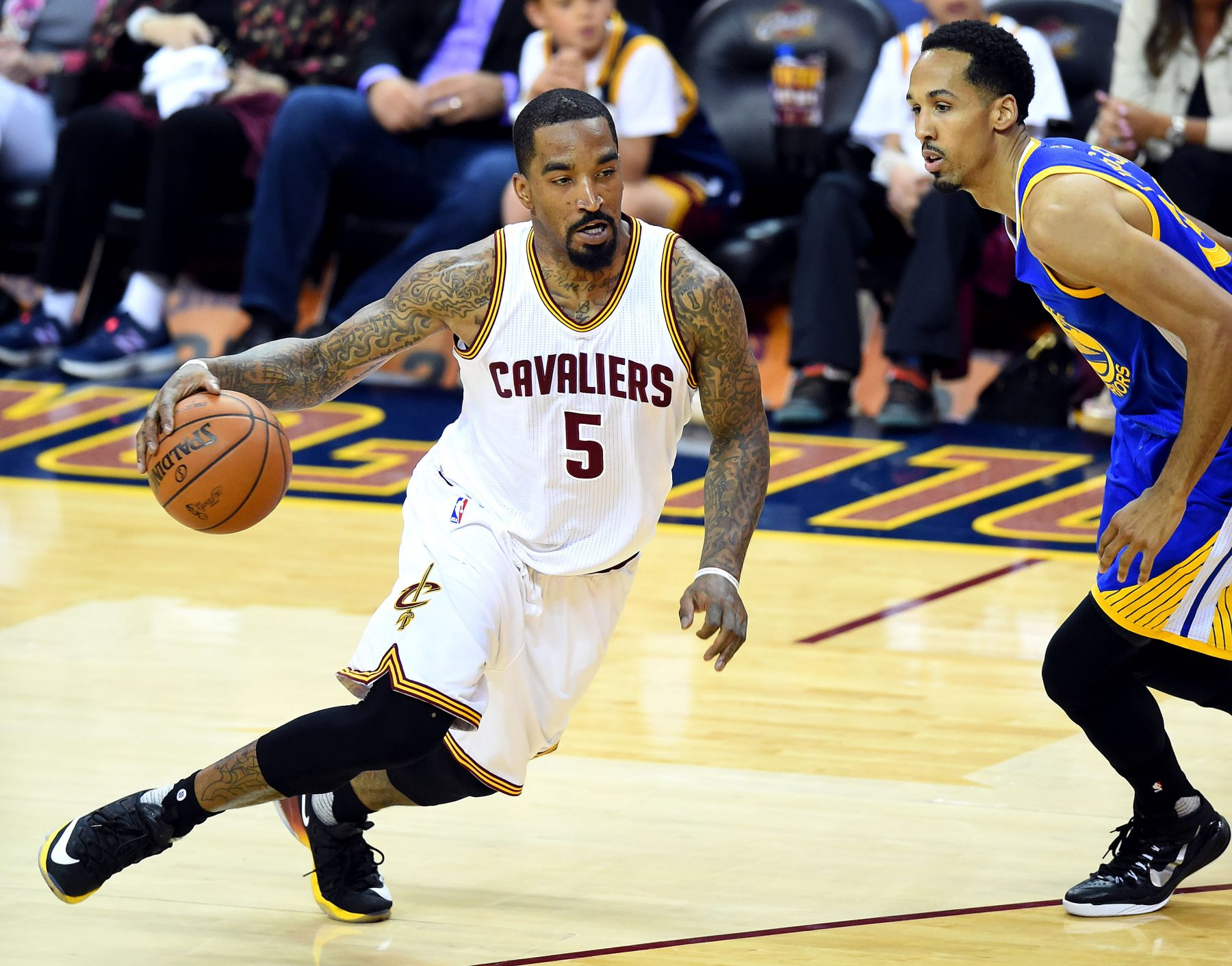 J.R. Smith and Shaun Livingston