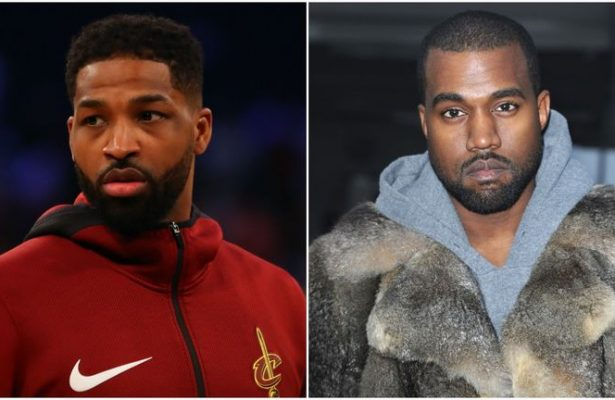 Tristan Thompson and Kanye West