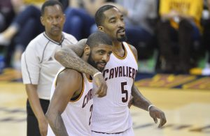 J.R. Smith and Kyrie Irving