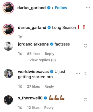 Darius Garland, Jordan Clarkson and Sindarius Thornwell