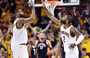 Tristan Thompson and Kyrie Irving
