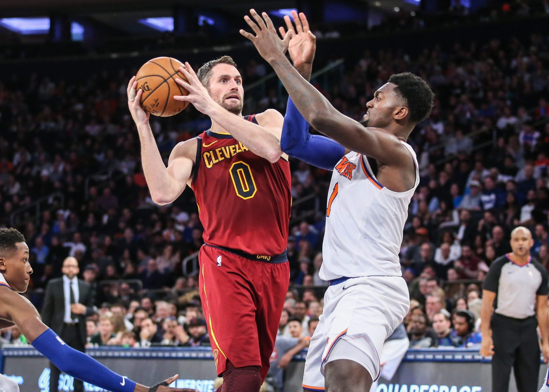Kevin Love and Bobby Portis