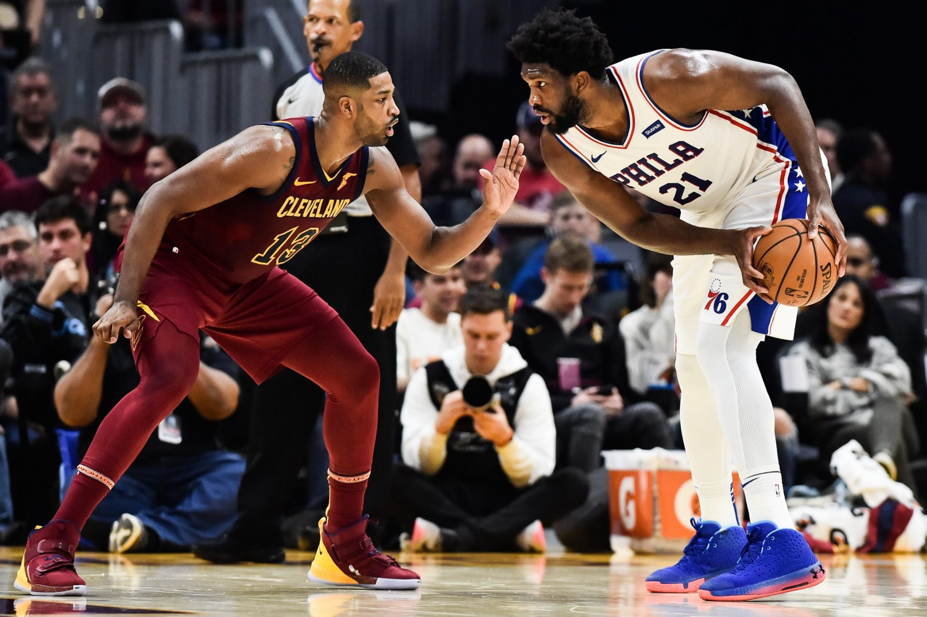 Tristan Thompson and Joel Embiid