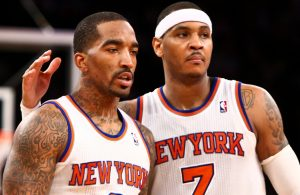 J.R. Smith and Carmelo Anthony