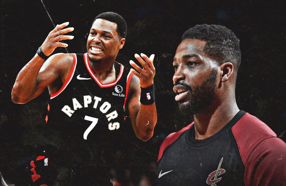 Kyle Lowry and Tristan Thompson