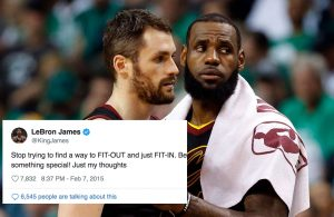 Kevin Love and LeBron James Cavs