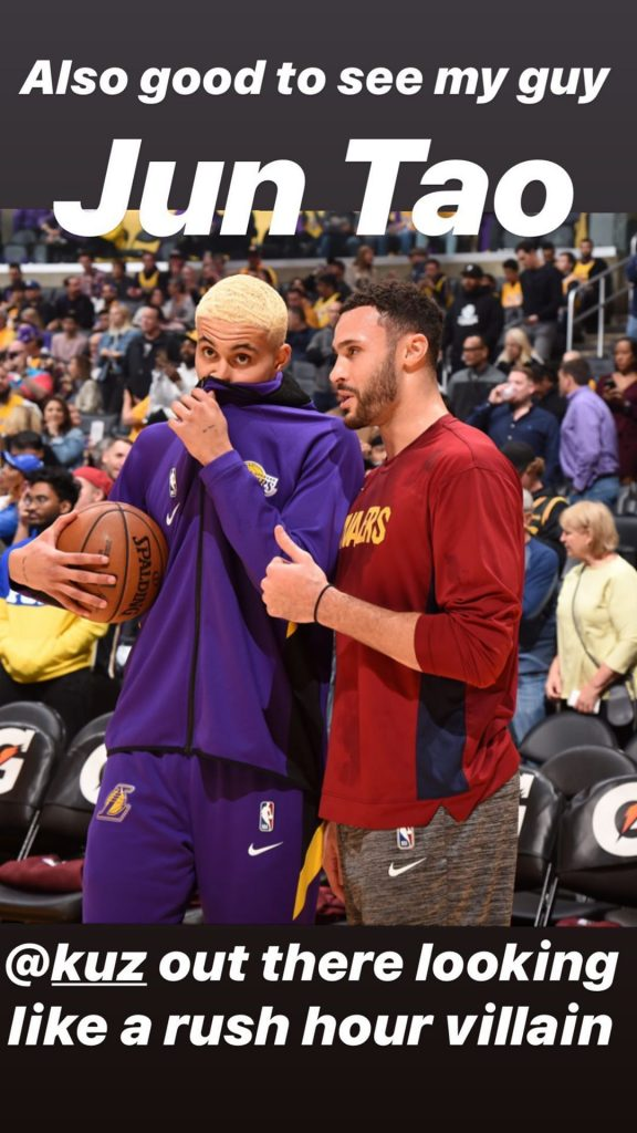 Kyle Kuzma and Larry Nance Jr.