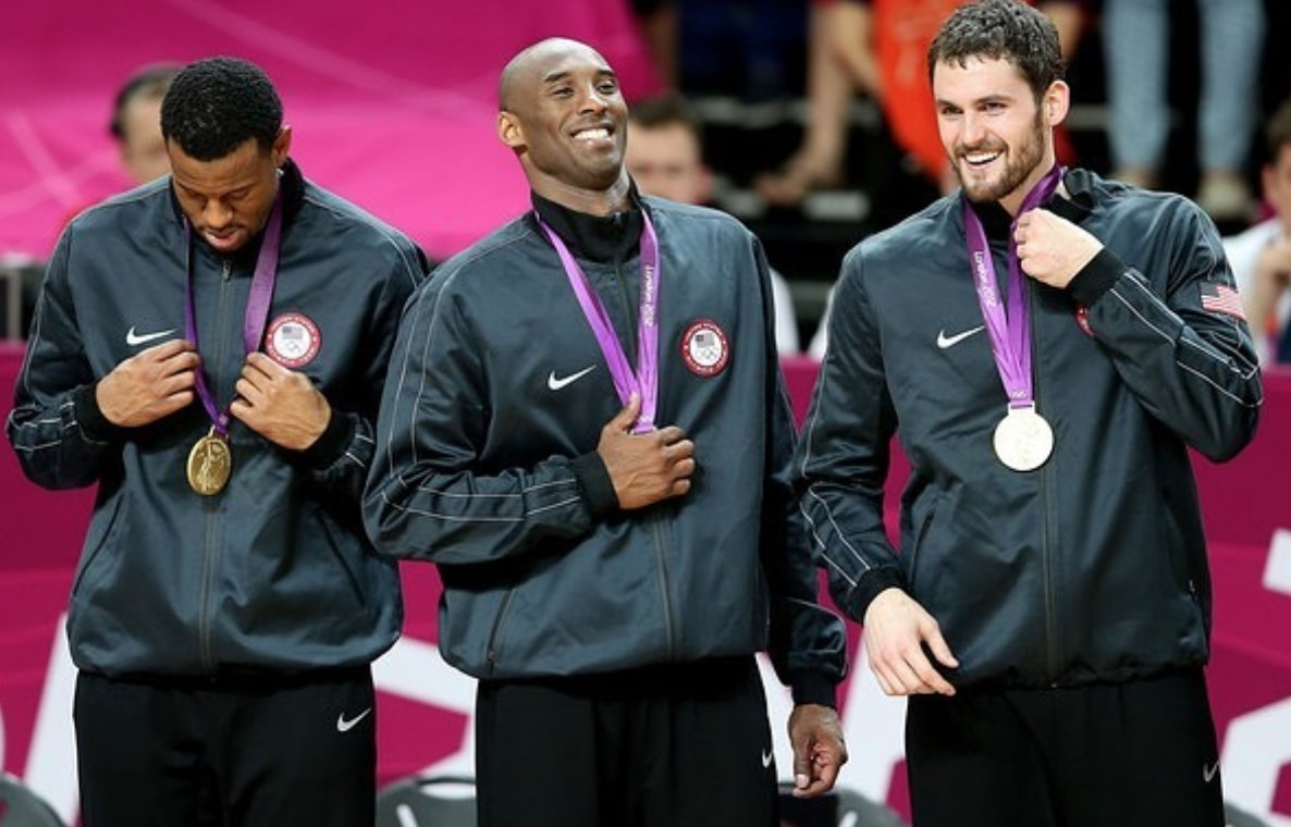 Kobe Bryant and Kevin Love