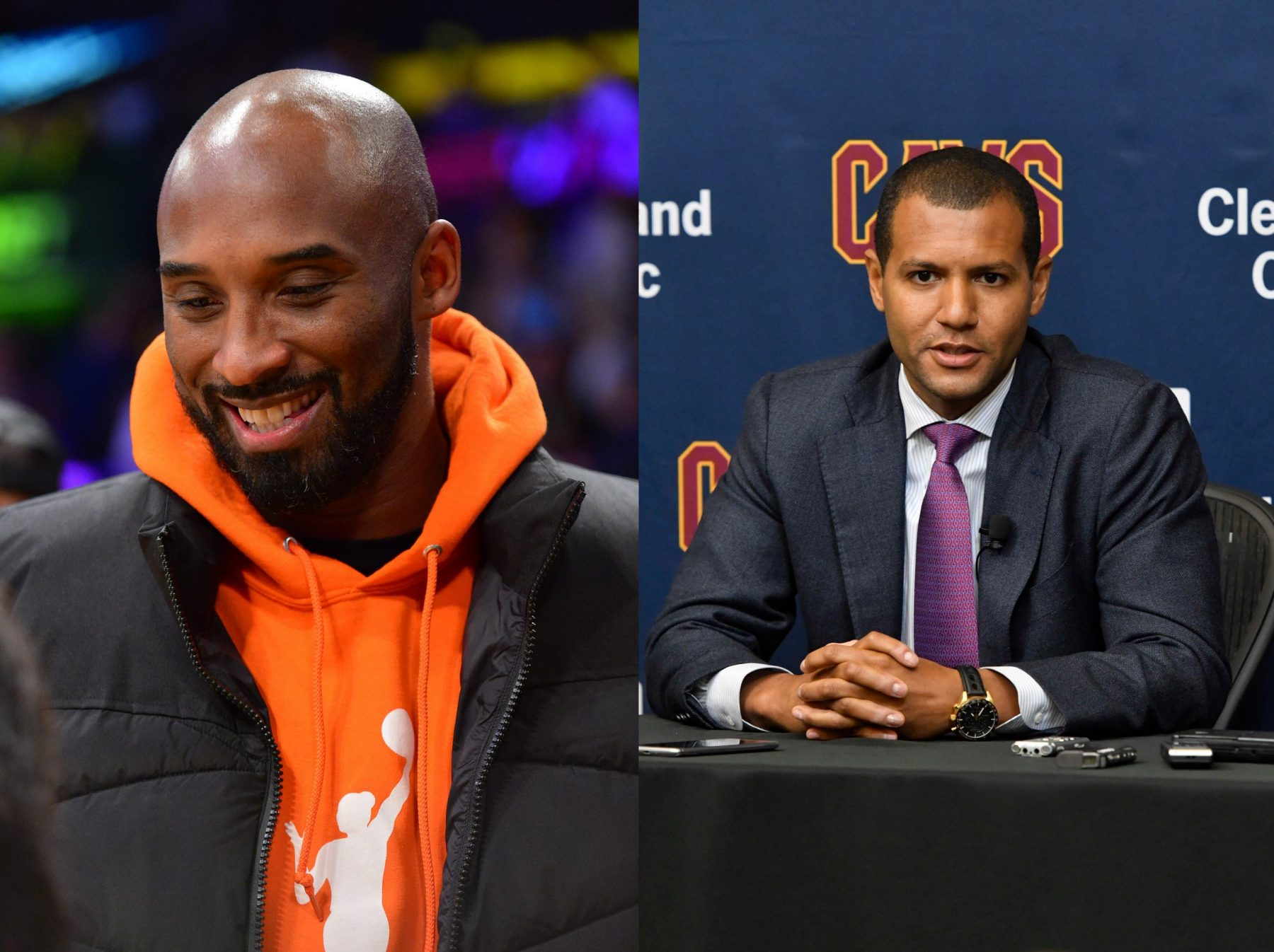 Kobe Bryant and Koby Altman