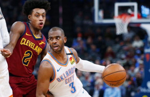 Collin Sexton and Chris Paul