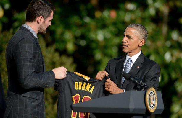 Kevin Love and Barack Obama