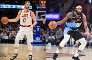 Kevin Love and Andre Drummond