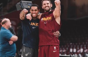 Jordan Clarkson and Kevin Love