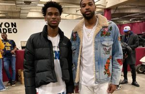 Shai Gilgeous-Alexander and Tristan Thompson