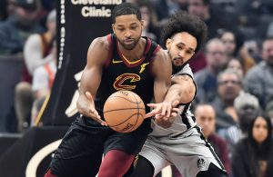 Tristan Thompson and Derrick White