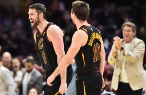 Kevin Love and Matthew Dellavedova