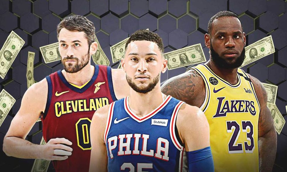Kevin Love, Ben Simmons and LeBron James