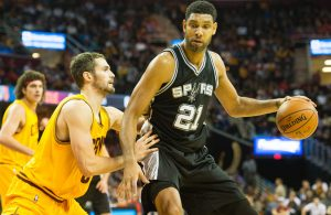 Kevin Love and Tim Duncan