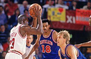 Michael Jordan and Craig Ehlo