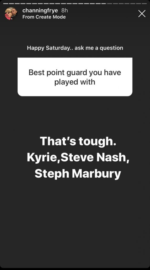 Channing Frye and Kyrie Irving