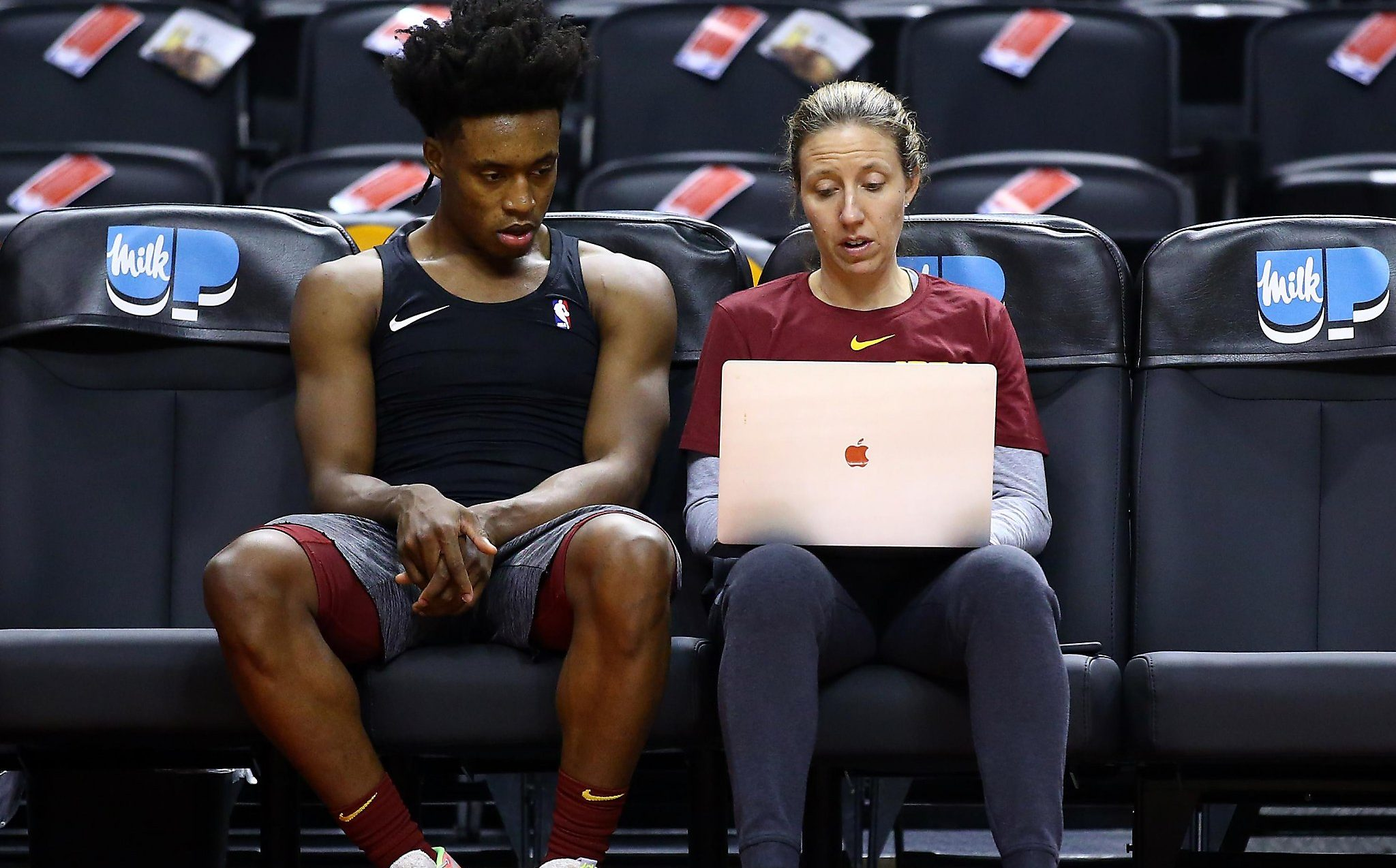 Lindsay Gottlieb and Collin Sexton