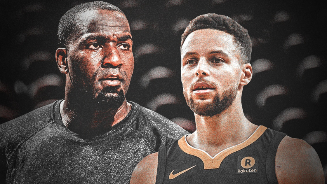 Kendrick Perkins and Stephen Curry
