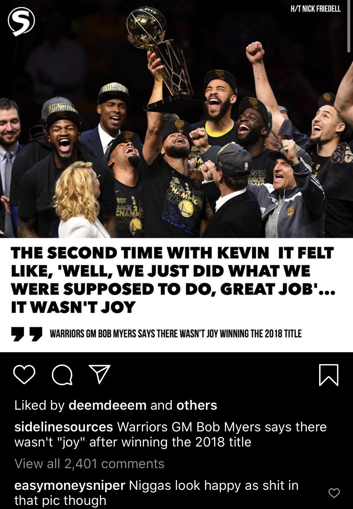 Bob Myers Kevin Durant