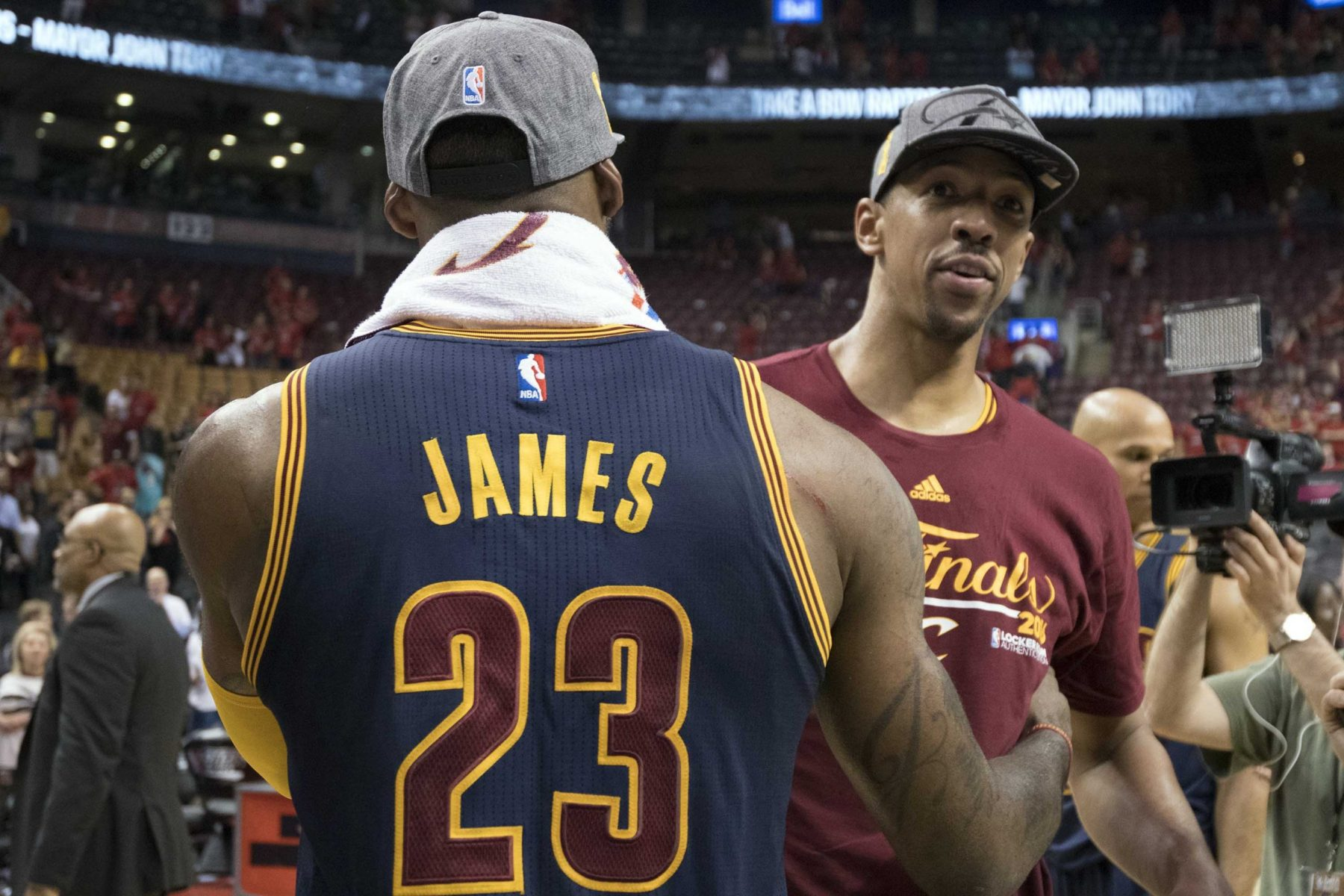LeBron James and Channing Frye