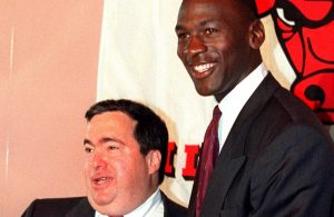 Jerry Krause and Michael Jordan