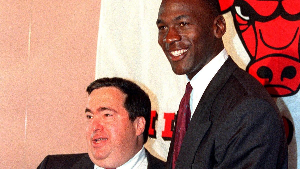 Jerry Krause and Michael Jordan