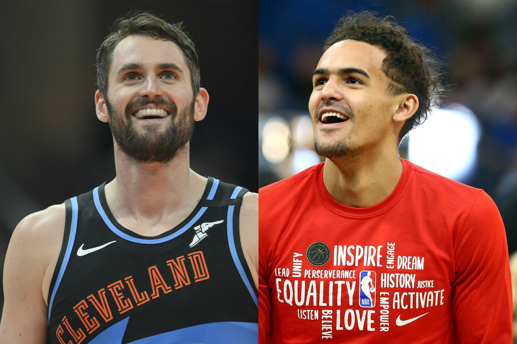 Kevin Love and Trae Young