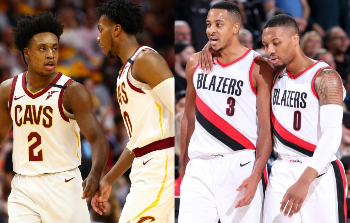 Collin Sexton, Darius Garland and Damian Lillard