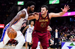 Ante Zizic and Joel Embiid