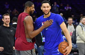 Ben Simmons and Tristan Thompson