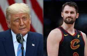 Donald Trump and Kevin Love