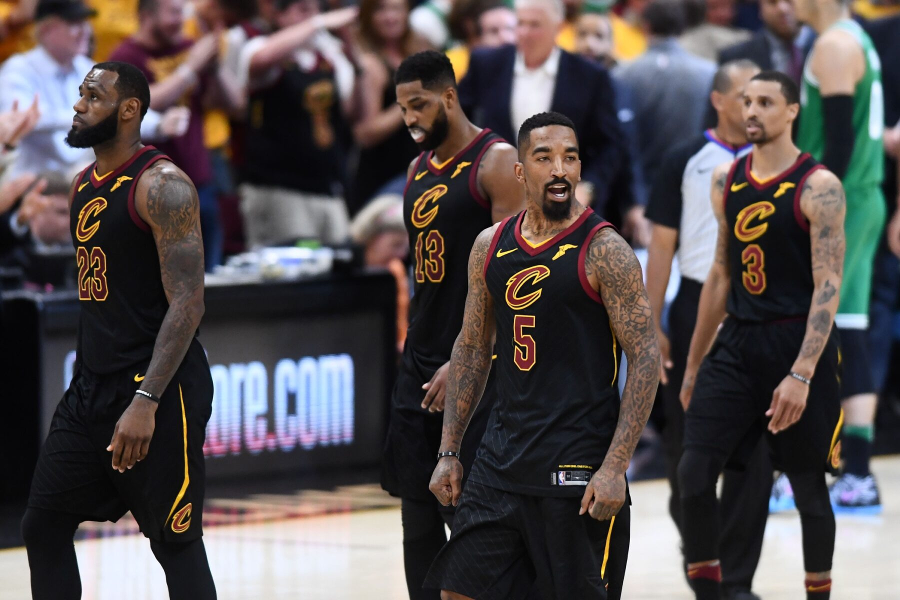 LeBron James and J.R. Smith