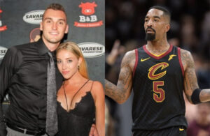J.R. Smith, Sam Dekker and Olivia Harlan Dekker