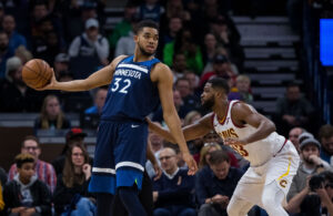 Karl-Anthony Towns and Tristan Thompson