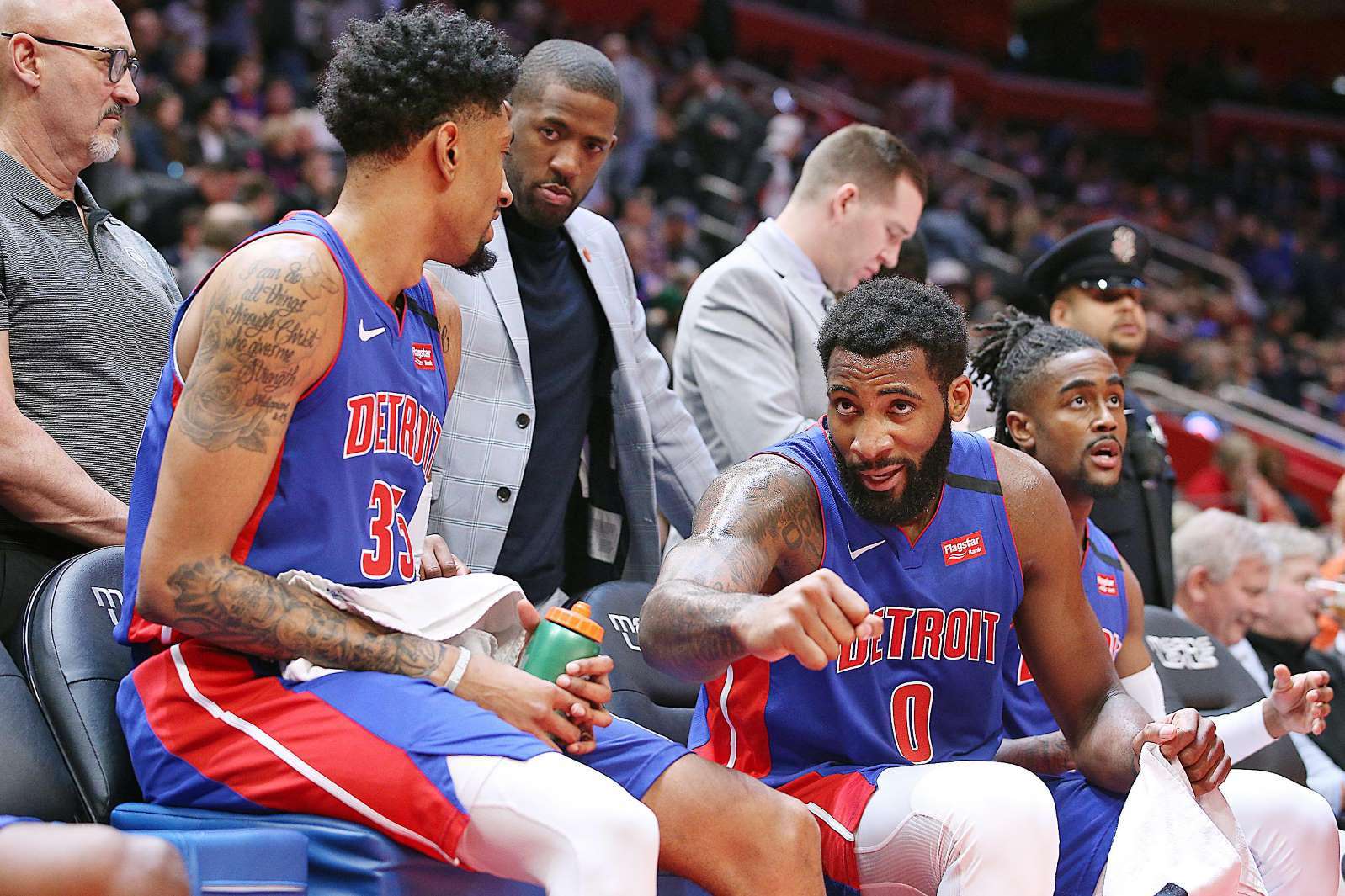 Christian Wood and Andre Drummond